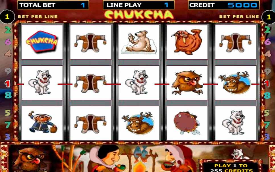 Игровые автоматы чукча двухсторонние игровые слоты мишка на севере бриллиант